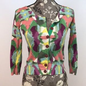 Anthropologie Guinevere Watercolor Cardigan